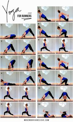 Yoga for Runners Routine ~ Lorna Jane #yoga
