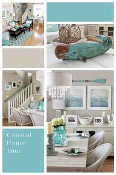 Ready for a light Coastal Cottage, Coastal Homes, Cottage Homes, Coastal Style, Coastal Decor, Blogger Home, Dream Beach Houses, Living Room Designs, Living Rooms