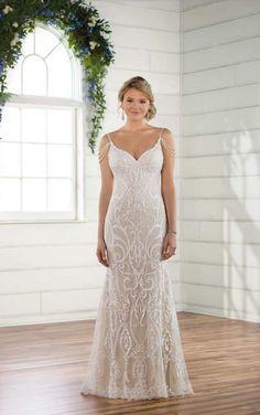 D2512 Vintage Glam Wedding Dress by Essense of Australia