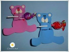 Lollipop craft idea for kids Kids Crafts, Flower Crafts Kids, Bear Crafts, Preschool Crafts, Diy And Crafts, Candy Crafts, Paper Crafts, Lollipop Craft, Preschool First Day