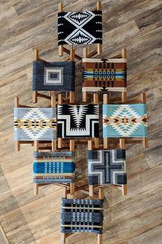 House + Home – Black Diamond Curio Southwest Decor, Southwest Style, Southwest Bedroom, Southwestern Decorating, Pendleton Wool Blanket, Pendleton Fabric, Rattan Lampe, Native American Decor, Camping Blanket