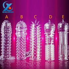 1PC New Delay Time Crystal Cock Rings Reusable Condom Penis Sleeves Penis Extension Cock Rings Adult Sex Toys For Men 5 Type -- Want to know more, click on the image.