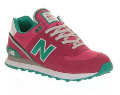 Womens New Balance Wl574 Stadium Jacket Pink Emerald Green Trainers