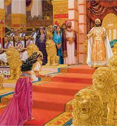Queen Esther approaches the King Esther Bible, Book Of Esther, Jewish Art, Religious Art, Lds, Queen Esther, Bible Pictures, Biblical Art, Old Testament