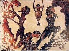 Slaves working in a mine. Ancient Greece. circa 800 BCE via wiki