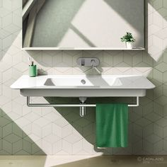 Washbasin Green UP Collection 120x52