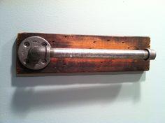 Rustic Industrial Bath Accessories /towel Bar/ Toilet Paper Holder/ Robe Hook