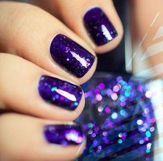 purple nail polish - I like this length