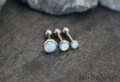 Opal 16G Barbell in Baby Blue