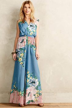 This is SO much girlier than I like usually, but I think I'd love wearing it.  Floristry Jumpsuit - anthropologie.com