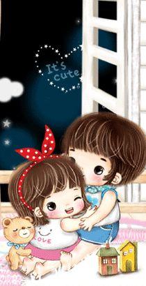 Cute Love Cartoons, Cute Cartoon, I Love You Images, Arabic English Quotes, Chibi Couple, Cute Love Gif, Cartoon Gifs, Character Drawing, Cute Stickers