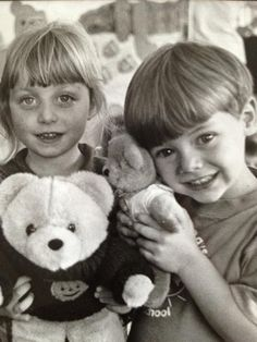 harry with a childhood friend (: