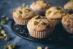 pistachio, dark chocolate & olive oil muffins | london bakes