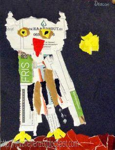Tekenen en zo: Uil - collage