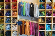 Knitwit Yarn shop, 247A Congress Street, Portland, Maine - OMG I just died and went to wool heaven!