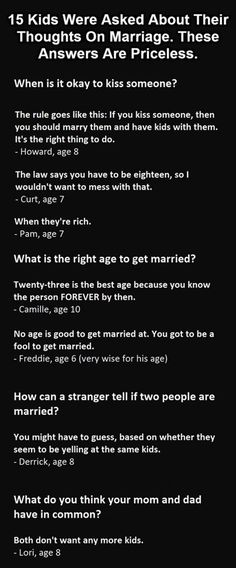 15 Kids Give Their Opinions About Marriage, And It's As Funny As It Sounds