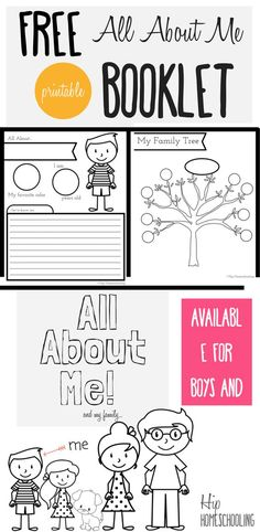 All About Me \'I Am\' Worksheet : Preschool and Toddler Lesson Plan ...