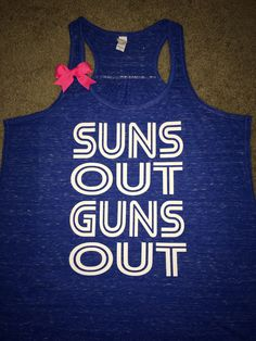 Suns Out Guns Out - Ruffles with Love - Ruffles With Love -Racerback Tank - Womens Fitness - Workout Clothing - Workout Shirts with Sayings