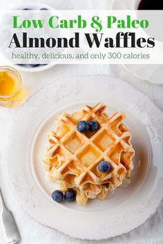 Low Carb Waffles made with almond and coconut flour are the perfect weekend breakfast plus they are gluten-free, paleo, and packed with protein.