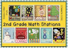 COMPLETED...all year long...  Debbie Diller style math stations for each month of the school year.  Lory's Page