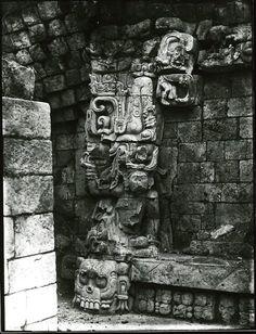 Alfred Maudslay (British, Photographs of Maya Ruins before excavation, circa 1890 Mayan History, Ancient History, Ancient Architecture, Art And Architecture, Maya Civilization, Aztec Art, Mesoamerican, Mayan Ruins, Ancient Aliens