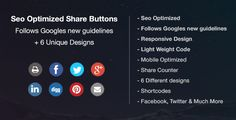 Seo Friendly & Optimized Share buttons
