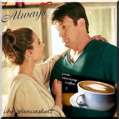 Good Morning Coffee, Good Morning Friends, Life Happens, Shit Happens, Castle, Fan Art, Stana Katic, Coffee Coffee, Couple Photos