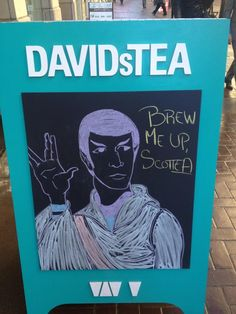 Live oolong and prosper - Star Trek chalkboard by our team at DT Stephen Ave in Calgary. Best Loose Leaf Tea, Tea Puns, Davids Tea, Premium Tea, My Tea, Tea Accessories, Chalkboard Art, Tea Party, Things To Come