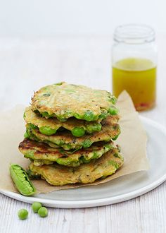 Zesty Pea And Parsley Fritters – Honestly Healthy Food