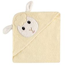 Luvable Friends Animal Face Hooded Towel Lamb