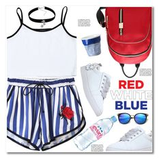 """""""Red, White & Blue: Celebrate the 4th!"""" by paculi ❤ liked on Polyvore featuring Revol, KG Kurt Geiger, Evian and fourthofjuly"""