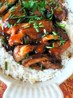 Crock Pot Teriyaki Chicken | Lake Lure Cottage Kitchen This one is for a crowd, so perfect to make for a family and freeze the rest for more meals.