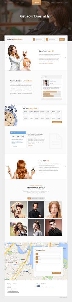 Frisieur is Premium full Responsive WordPress Hair Salon Theme. Retina Ready. One Page. Google Map. Working Contact form. http://www.responsivemiracle.com/cms/frisieur-premium-responsive-wordpress-theme-hair-salons/