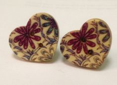 Plugs Gauges Sweet Heart Floral plug Earrings pick a size by SheMused on Etsy, $20.00