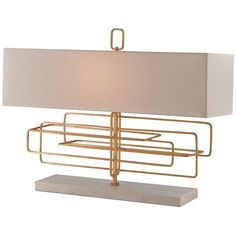 Currey and Company Metro Contemporary Gold Leaf Table Lamp