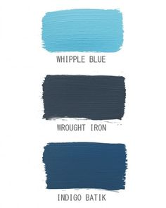 For a more formal feel, choose a blue toward the gray end of the spectrum, such as Wrought Iron; closer to denim blue, Indigo Batik telegraphs a laid-back vibe.  If you like Whipple Blue (Benjamin Moore, benjaminmoore.com), than you'll love the darker versions Wrought Iron (Martha Stewart Living Paint, homedepot.com) and Sherwin-Williams Indigo Batik (sherwin-williams.com).