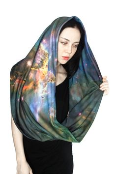 Mystic Mountain Nebula Circle Scarf Infinity by Shadowplaynyc, $75.00