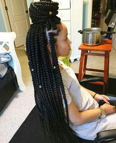 Lemonade Medium Box Braids Hairstyles To Try In African Style Blonde Box Braids, Black Girl Braids, Girls Braids, Box Braids For Kids, Braids For Black Women Box, Black Box Braids, Long Hair Black Girl, Style Long Hair, Little Girl Box Braids