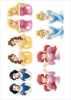 Image result for disney princess cupcake toppers free printable