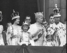 ©British Pathé.  Heiress Presumptive.  In this lovely shot of three royal generations we see the Royal Family on the balcony of Buckingham Palace for the Coronation of King George VI in 1937.  Princess Elizabeth and her younger sister Margaret are seen along with their parents and their grandmother, Queen Mary of Teck.  We wonder whether the 11 year old Princess understood the enormity of this moment and what it meant for her future?