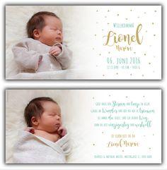 Lionel: Geburtskarte 210x100 mm // Karte ist auch in ihrer Wunschfarbe erhältlich // (©Fotos: http://www.corinnechollet.ch)