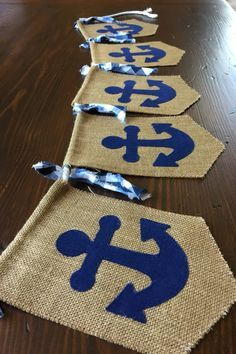 Items similar to Nautical Birthday Bunting Banner//Baby Shower or Nursery Décor//Photo Prop//asher + blaine on Etsy Décoration Baby Shower, Shower Bebe, Birthday Bunting, Boy Birthday, Birthday Decorations, Artist Birthday, Baby Showers Marinero, Sailor Baby Showers, Sailor Theme Baby Shower