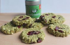 No-bake Mighty Matcha, cranberry and coconut cookies - One of my recipes for the Mighty Matcha website.