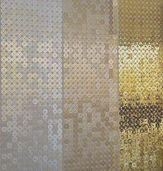 Vorhang / Geometrische Motive / Falten / Aluminium / Edelstahl BUBBLE ARABIC by Hervé Langlais LE LABO DESIGN