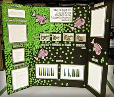 thematically decorated science fair display board.
