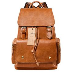 S-ZONE Women's Daily Genuine Leather Casual Backpack Bag S-ZONE http://www.amazon.com/dp/B00NM8BYG6/ref=cm_sw_r_pi_dp_yae3wb0C49E3S