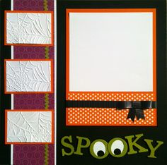 Sally- this is cool and I don't like Halloween so much!: Halloween Scrapbook Layouts --love Halloween, love the spooky O's! Album Scrapbook, Scrapbook Sketches, Scrapbook Page Layouts, Scrapbooking Ideas, Kids Scrapbook, School Scrapbook, Halloween Scrapbook, Halloween Cards, Spooky Halloween