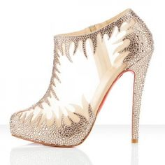 Latest Christian Louboutin Marale 140mm Strass And Mesh Upper Ankle Booties In Nude