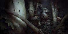 ArtStation - Serkonan Night Birds / Dishonored 2, Piotr Jabłoński