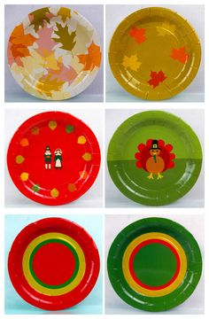 Fall/Thanksgiving Paper plates-because we have fine china, but nobody wants to wash it.